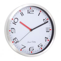 Round Modern White Wall Clock with black hand