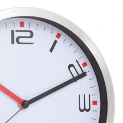 Zoomed in Modern White Wall Clock