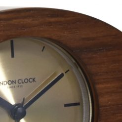 Zoomed in of Wooden Alarm Clock