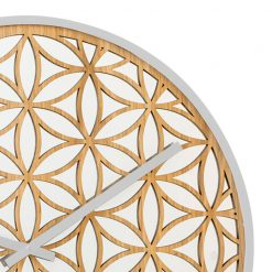 Zoomed in of Bella Mirror White NeXtime Wall Clock
