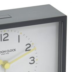 Zoomed in view of Buzz Charcoal Silent Alarm Clock