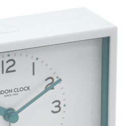 Close up view of White Alarm Clock