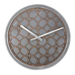 Concrete Love Wall Clock with White Hands