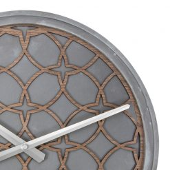 Zoomed in of Concrete Love NeXtime Wall Clock