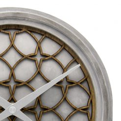 Close up of Silver Wall Clock
