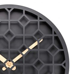 Zoomed in of Discrete Black NeXtime Wall Clock