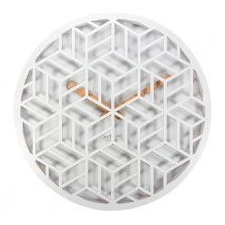 Side View Discrete NeXtime White Wall Clock