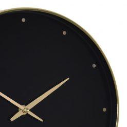 Close up of Black Durrant Silent Wall Clock