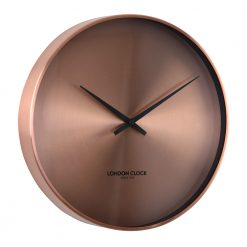 Round Bronze Wall Clock with Black Hands