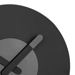 Zoomed in of Black and Grey Wall Clock