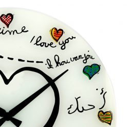 Zoomed in of Loving you NeXtime Wall Clock