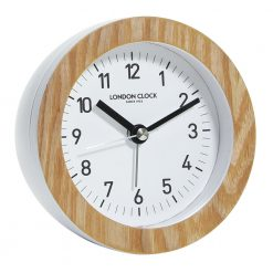 Round Alarm Clock with Black Hands