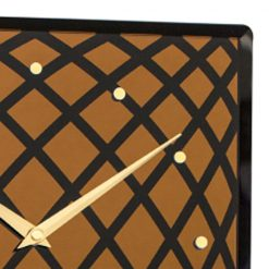 Close up if NeXtime Wall Clock with Gold Hands