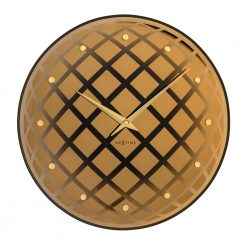 Round Pendula NeXtime Wall Clock with Gold Hands