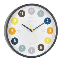 Round Tell The Time Silent Wall Clock