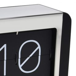 Close up of Black and While Flip Clock