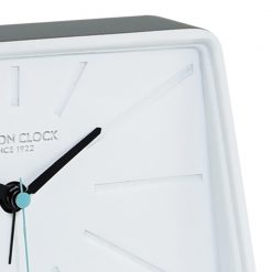 Zoomed in of Topic Silent Alarm Clock Cool Grey\