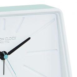 Close up of Mint Green Topic Silent Alarm Clock
