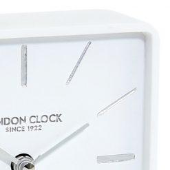 Zoomed in of White Alarm Clock