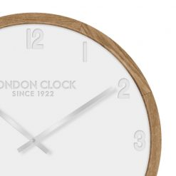 Close up of Klokke wooden wall clock
