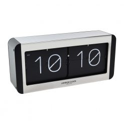 Large flip clock with white and black styling
