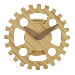 Wooden Wall clock with unique cog design