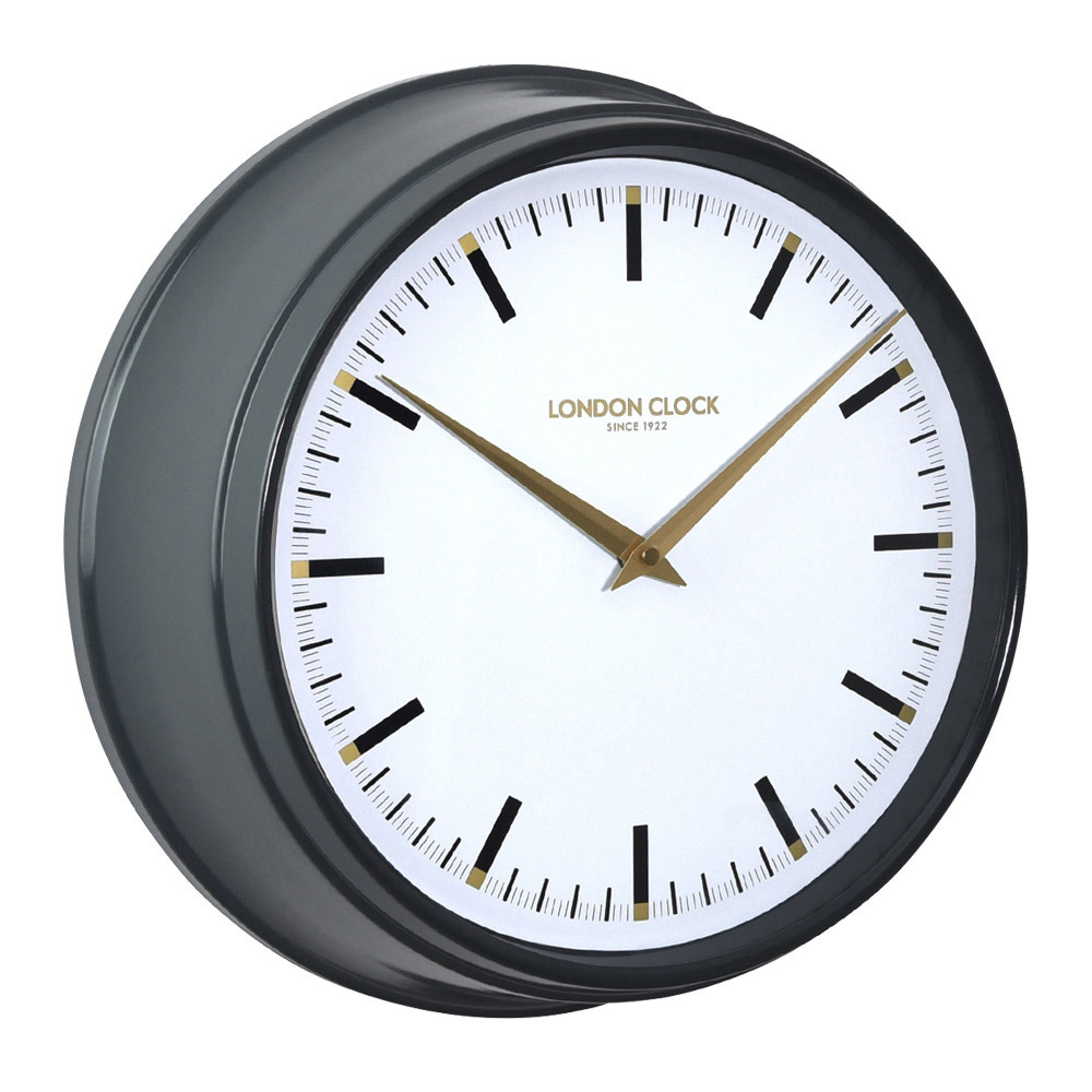 Buy Hatton Metal Wall Clock 37cm Online Purely Wall Clocks