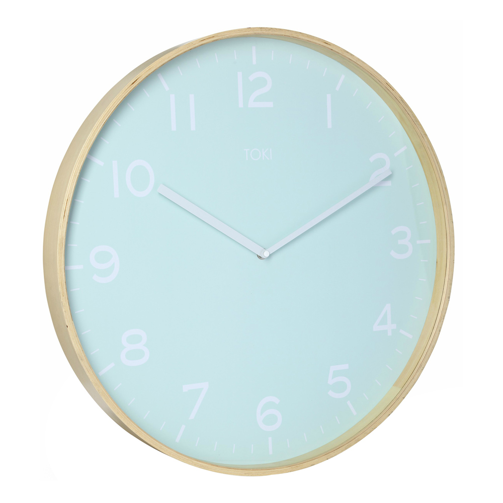 Photo Of Large Wall Clock With Duck Egg Colour Face And White Numbers ...