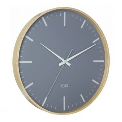 Photo of large wooden wall clock with silent sweep