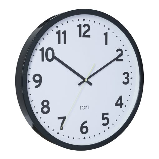 Photo of charcoal 50cm coloured silent sweep wall clock