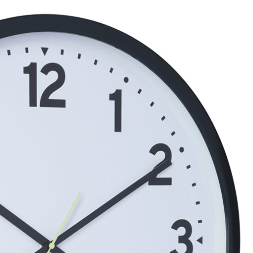 Close up image of Photo of charcoal coloured silent sweep wall clock in 50cm size