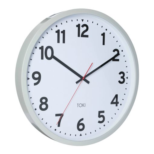 Photo of 50cm cool grey wall clock with white face