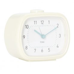 Photo of cream colour silent sweep alarm clock with white face