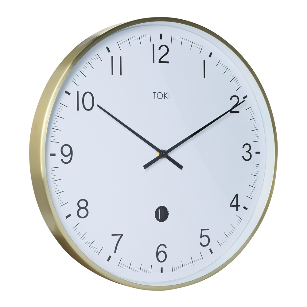 Buy Toki Mina Brushed Gold Silent Sweep Wall Clock With