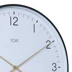 Close-up photo of large 40cm white silent sweep wall clock