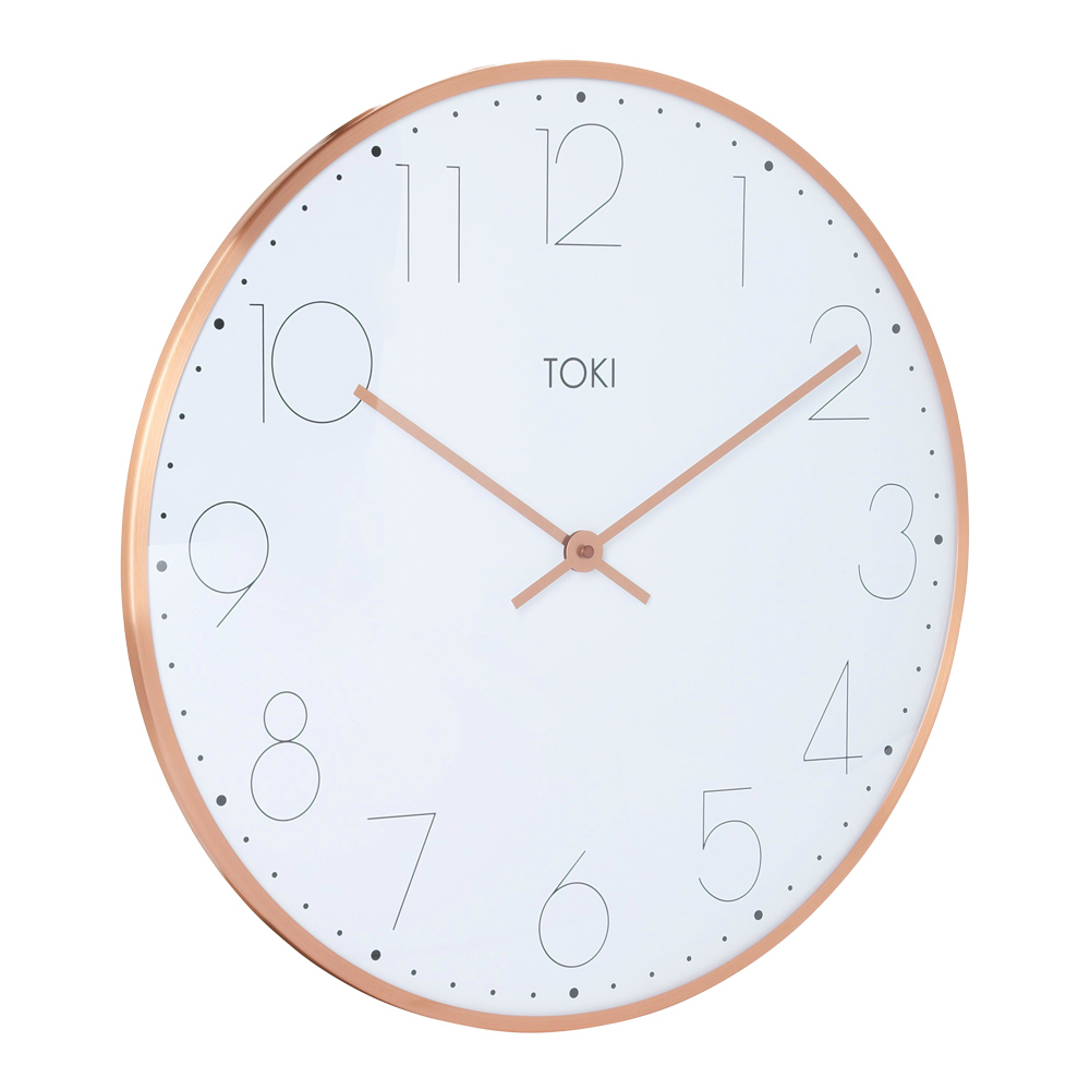 Photo Of Large Wall Clock With Rose Gold Case And White Face ...