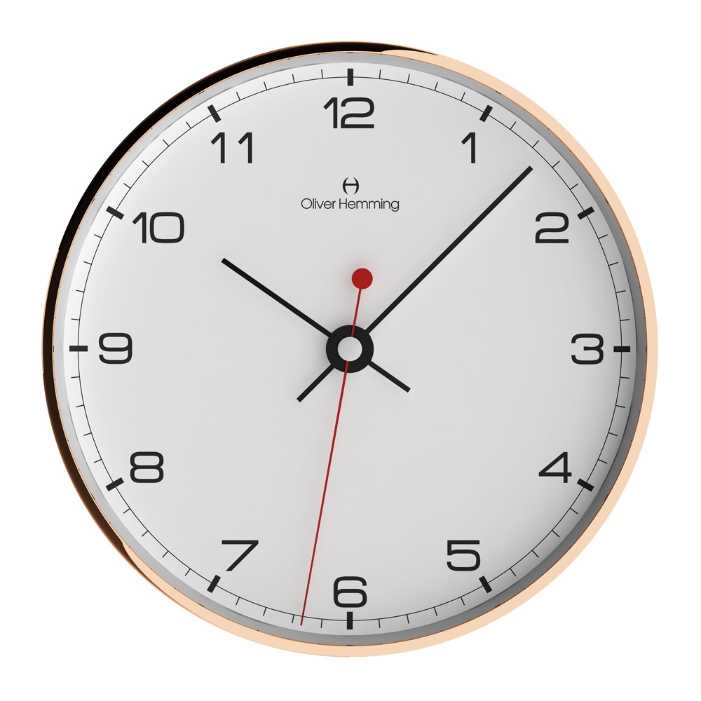 Buy Rose Copper Simplex Wall Clock Online Purely Wall Clocks