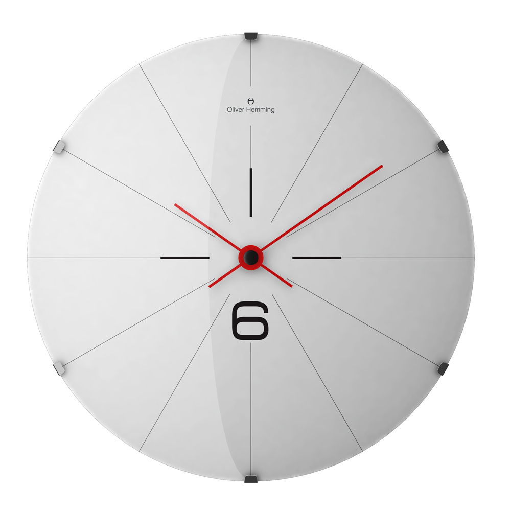 Buy Domed Vitri Stainless Steel Wall Clock White Online Purely