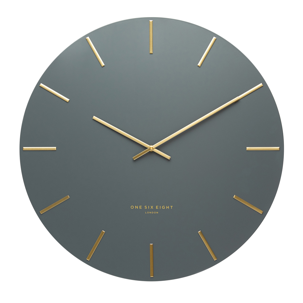 Buy Luca Charcoal 40cm Silent Wall Clock Online Purely Wall Clocks