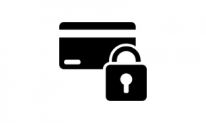 Secure payments icon with padlock